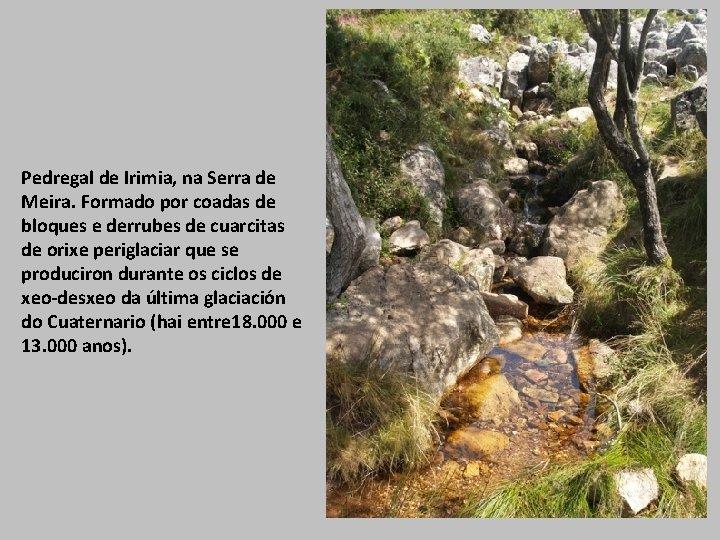 Pedregal de Irimia, na Serra de Meira. Formado por coadas de bloques e derrubes
