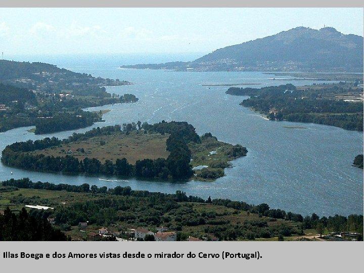 Illas Boega e dos Amores vistas desde o mirador do Cervo (Portugal).