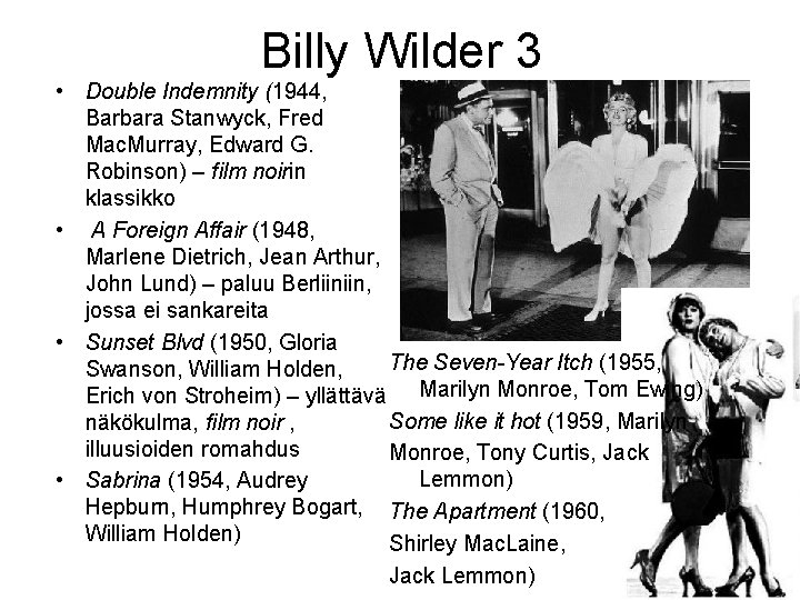 Billy Wilder 3 • Double Indemnity (1944, Barbara Stanwyck, Fred Mac. Murray, Edward G.
