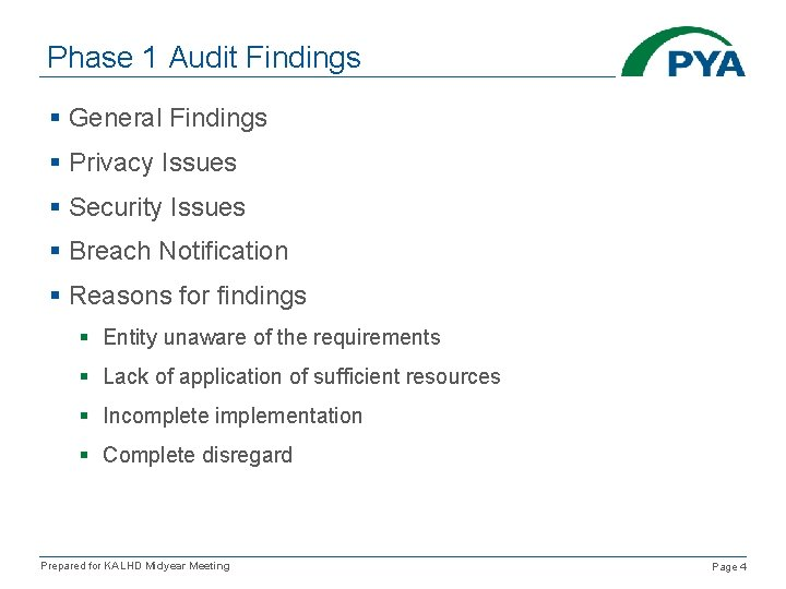 Phase 1 Audit Findings § General Findings § Privacy Issues § Security Issues §