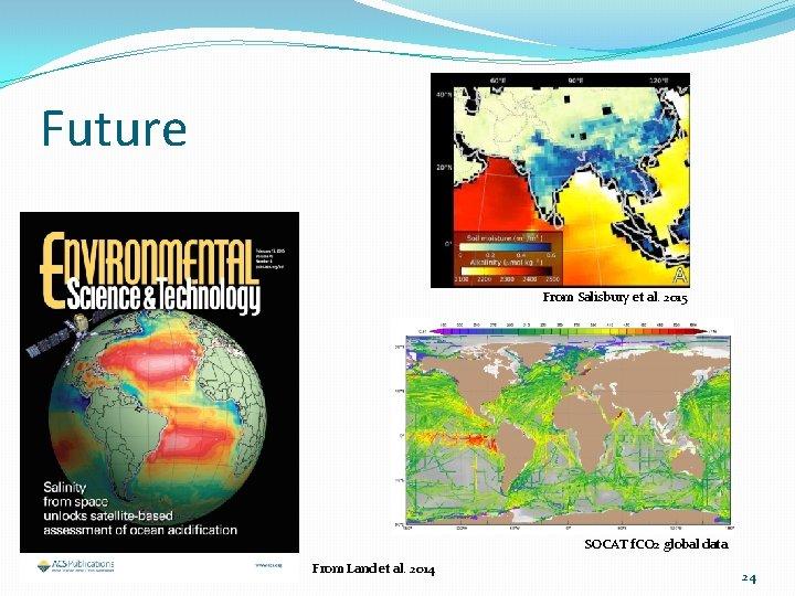 Future From Salisbury et al. 2015 SOCAT f. CO 2 global data From Land