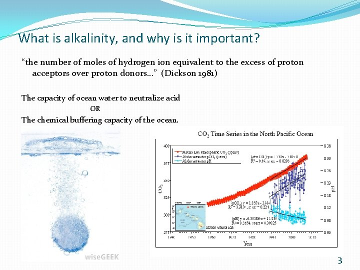 """What is alkalinity, and why is it important? """"the number of moles of hydrogen"""