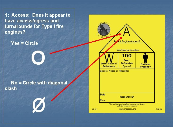 1: Access: Does it appear to have access/egress and turnarounds for Type I fire