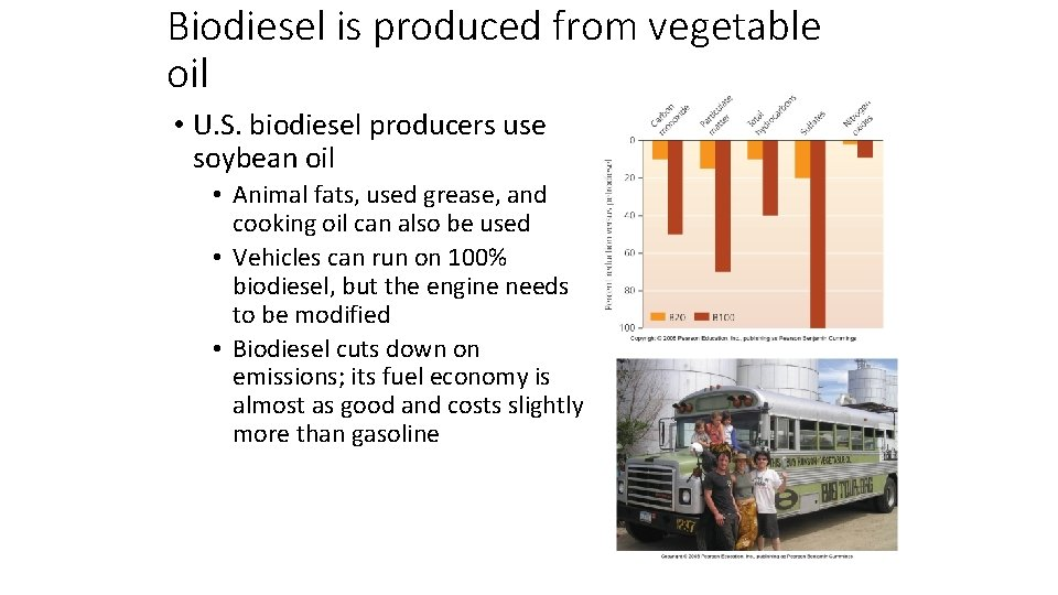 Biodiesel is produced from vegetable oil • U. S. biodiesel producers use soybean oil