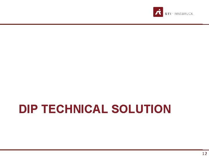 DIP TECHNICAL SOLUTION 12