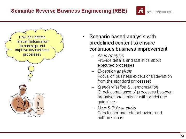 Semantic Reverse Business Engineering (RBE) How do I get the relevant information to redesign