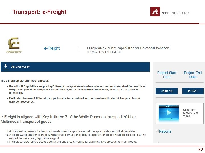 Transport: e-Freight 82