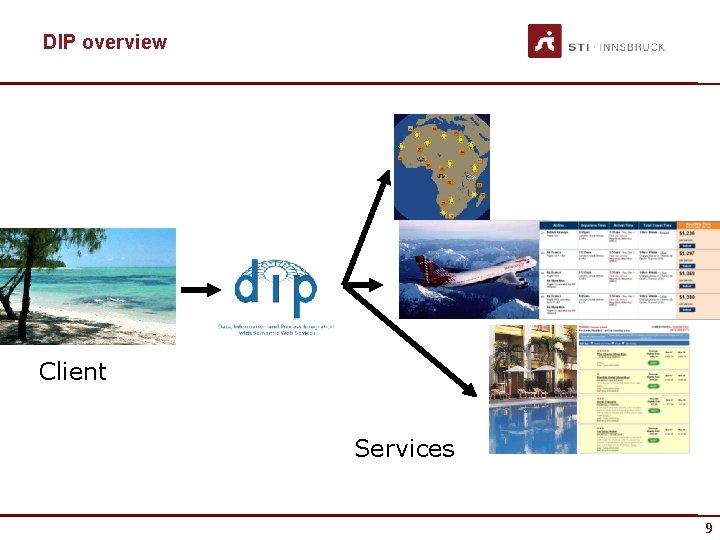 DIP overview Client Services 9