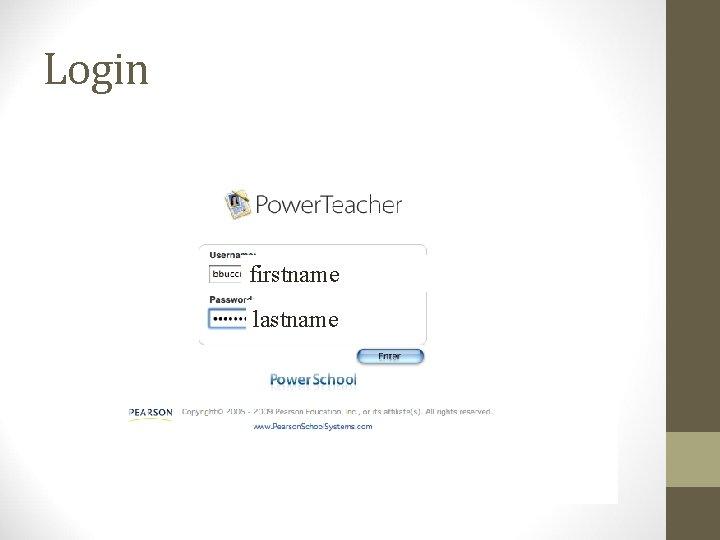 Login firstname lastname