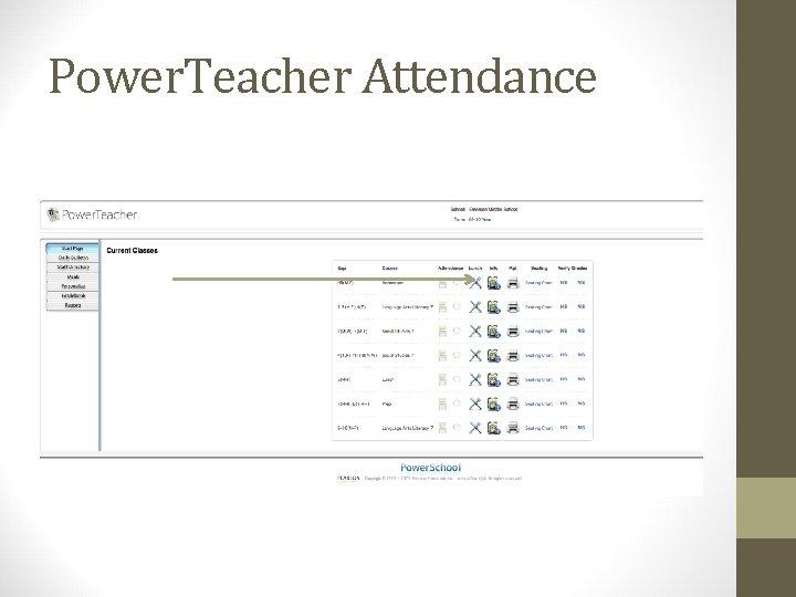 Power. Teacher Attendance