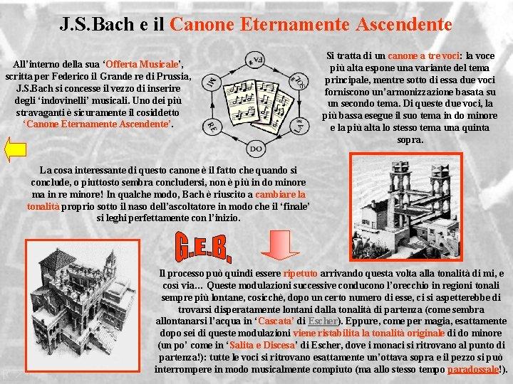 J. S. Bach e il Canone Eternamente Ascendente All'interno della sua 'Offerta Musicale', scritta