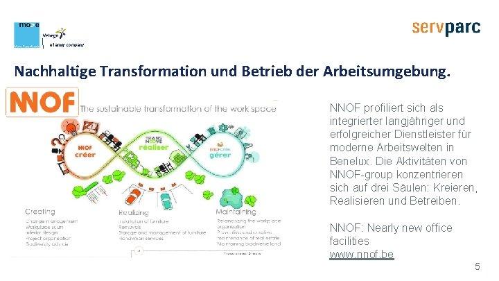 A family company Nachhaltige Transformation und Betrieb der Arbeitsumgebung. NNOF profiliert sich als integrierter