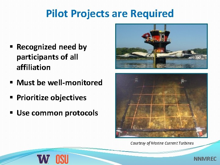 Pilot Projects are Required § Recognized need by participants of all affiliation § Must