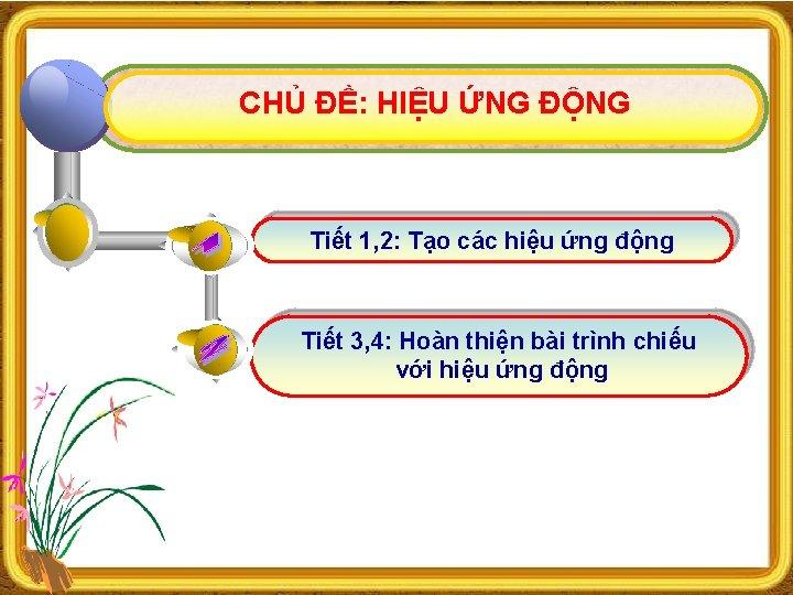 CHỦ ĐỀ: HIỆU ỨNG ĐỘNG Tiết 1, 2: Tạo các hiệu ứng động Tiết