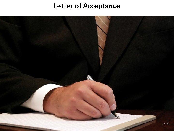 Letter of Acceptance 14 -20