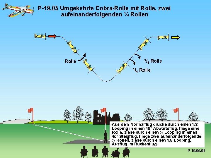 P-19. 05 Umgekehrte Cobra-Rolle mit Rolle, zwei aufeinanderfolgenden ¼ Rollen 1/ Rolle 1/ 4