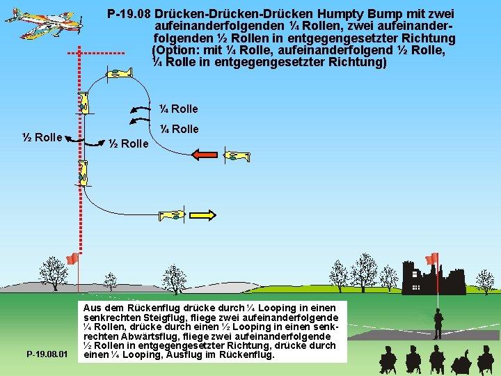 P-19. 08 Drücken-Drücken Humpty Bump mit zwei aufeinanderfolgenden ¼ Rollen, zwei aufeinanderfolgenden ½ Rollen