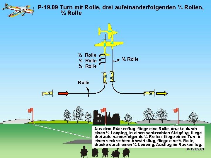 P-19. 09 Turn mit Rolle, drei aufeinanderfolgenden ¼ Rollen, ¾ Rolle ¼ Rolle ¾