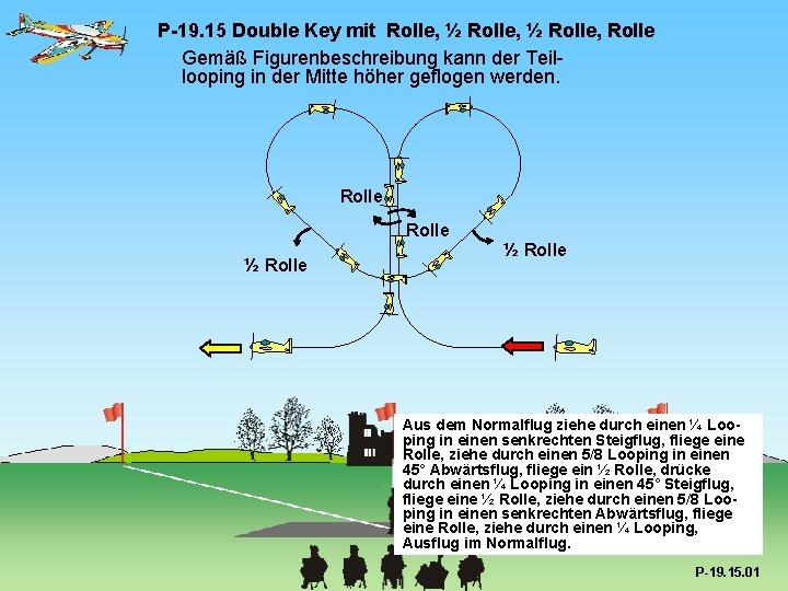 P-19. 15 Double Key mit Rolle, ½ Rolle, Rolle Gemäß Figurenbeschreibung kann der Teillooping