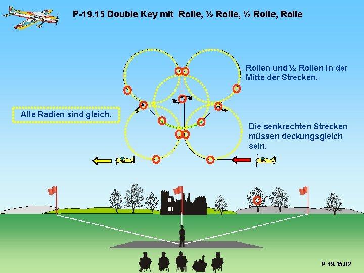 P-19. 15 Double Key mit Rolle, ½ Rolle, Rollen und ½ Rollen in der