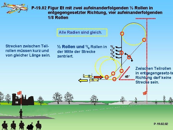 P-19. 02 Figur Et mit zwei aufeinanderfolgenden ½ Rollen in entgegengesetzter Richtung, vier aufeinanderfolgenden