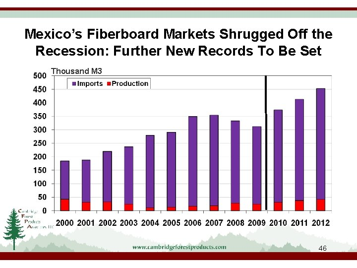 Mexico's Fiberboard Markets Shrugged Off the Recession: Further New Records To Be Set Thousand
