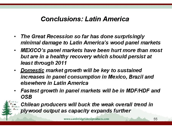 Conclusions: Latin America • The Great Recession so far has done surprisingly minimal damage
