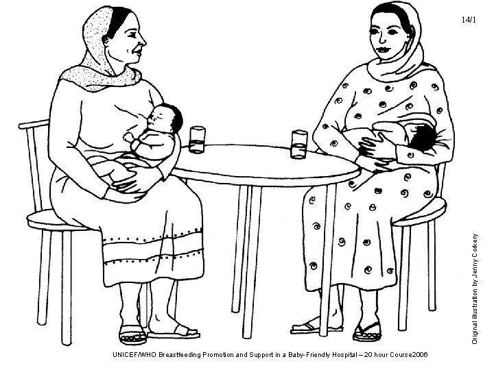 Original illustration by Jenny Corkery 14/1 UNICEF/WHO Breastfeeding Promotion and Support in a Baby-Friendly