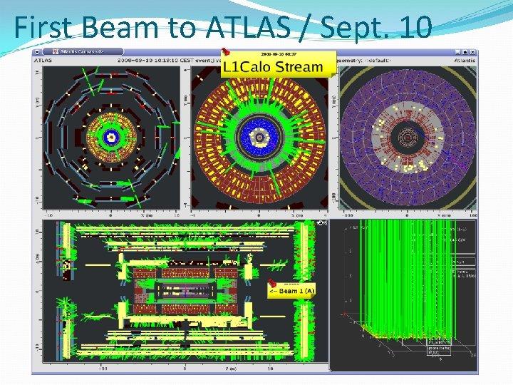 First Beam to ATLAS / Sept. 10