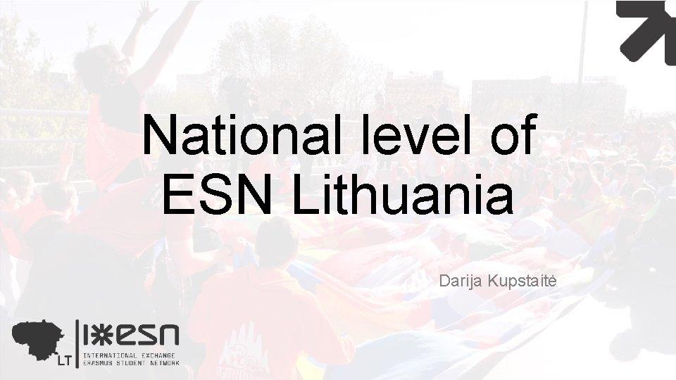 National level of ESN Lithuania Darija Kupstaitė