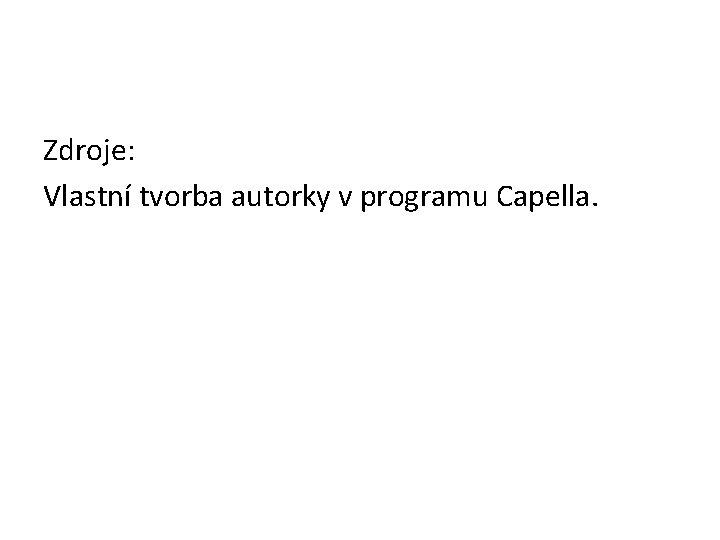 Zdroje: Vlastní tvorba autorky v programu Capella.