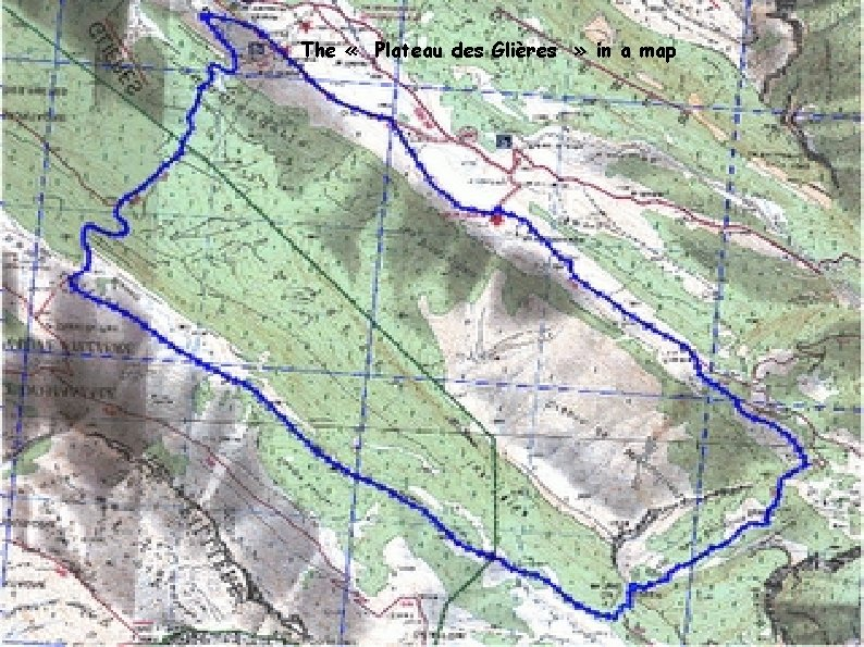 The « Plateau des Glières » in a map