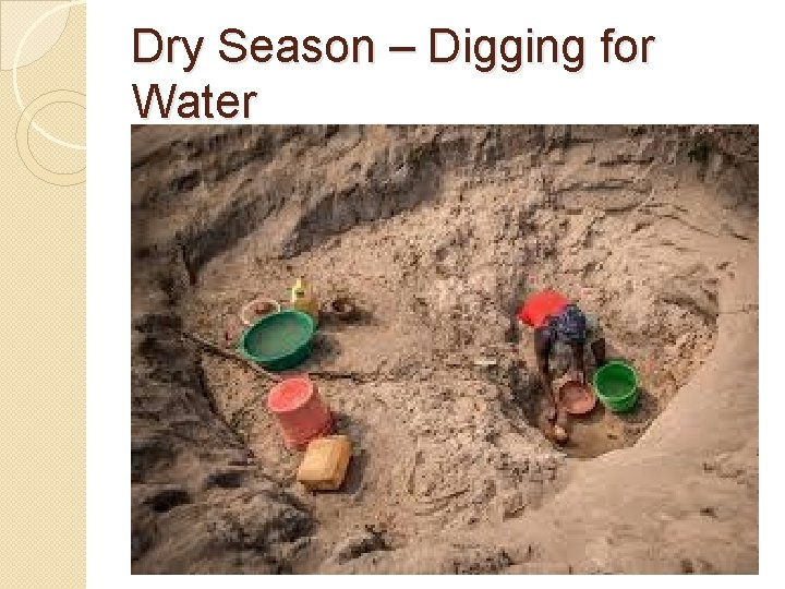 Dry Season – Digging for Water