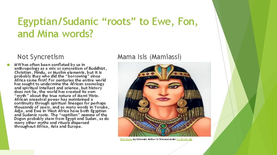 """Egyptian/Sudanic """"roots"""" to Ewe, Fon, and Mina words? Not Syncretism Mama Isis (Mamiassi) MW"""