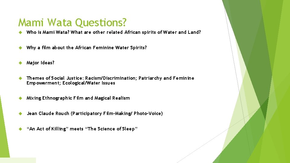 Mami Wata Questions? Who is Mami Wata? What are other related African spirits of