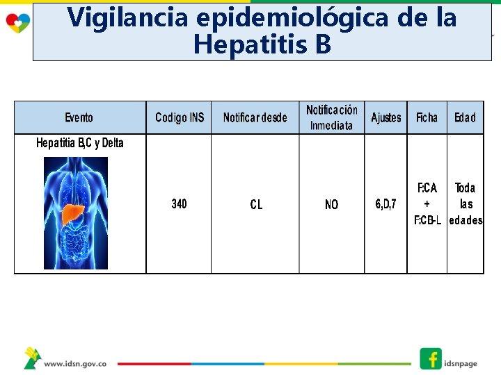 Vigilancia epidemiológica de la Hepatitis B