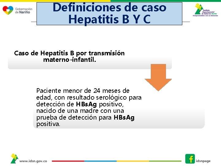 Definiciones de caso Hepatitis B Y C DEFINICIONES DE CASO HEPATITIS B Y C,