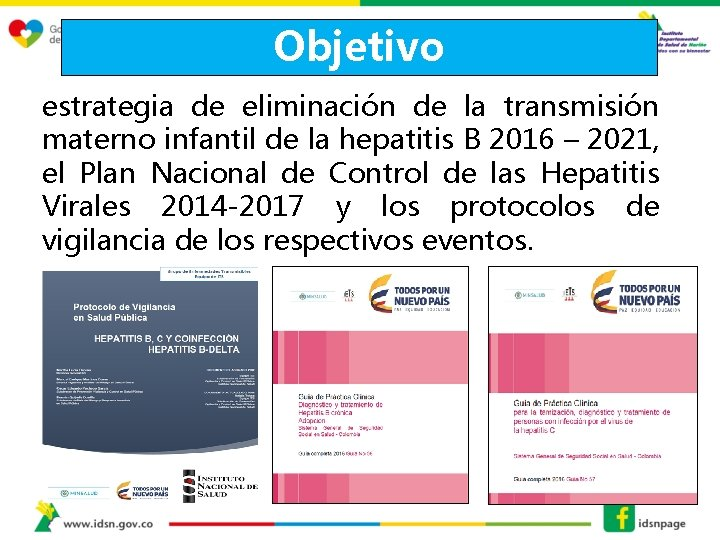 Objetivo estrategia de eliminación de la transmisión materno infantil de la hepatitis B 2016