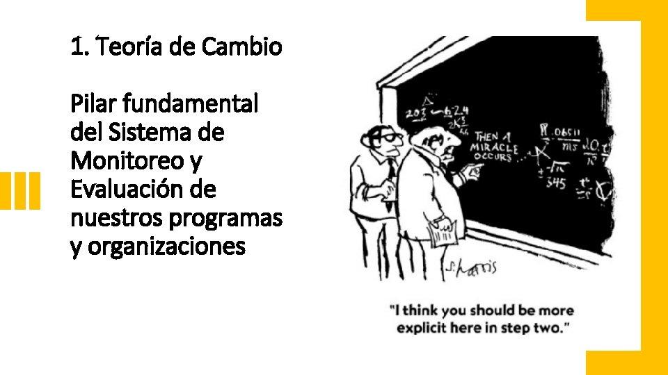 1. Teoría de Cambio Pilar fundamental del Sistema de Monitoreo y Evaluación de nuestros