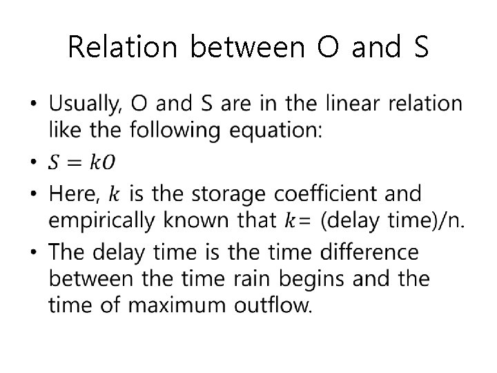 Relation between O and S •