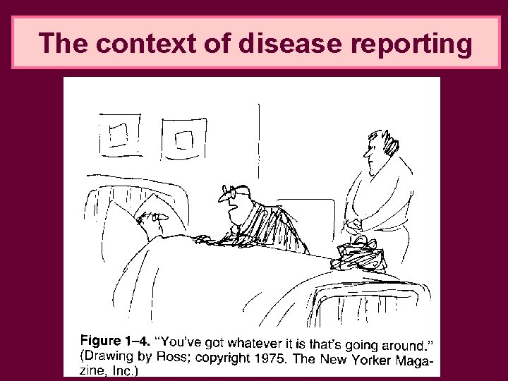 The context of disease reporting