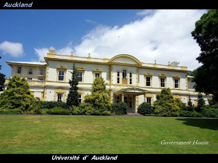 Auckland Government House Université d'Auckland