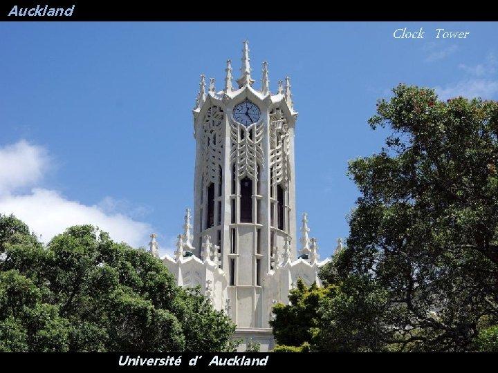 Auckland Clock Tower Université d'Auckland