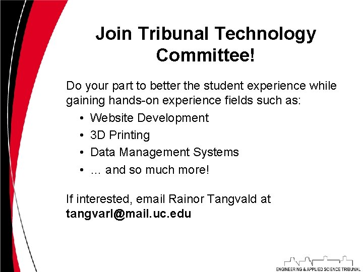 Join Tribunal Technology Committee! Do your part to better the student experience while gaining