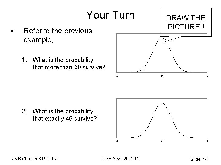 Your Turn • Refer to the previous example, DRAW THE PICTURE!! 1. What is