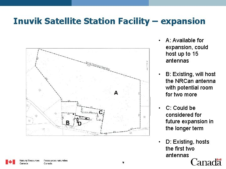 Inuvik Satellite Station Facility – expansion • A: Available for expansion, could host up