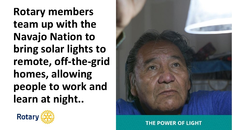 Rotary members team up with the Navajo Nation to bring solar lights to remote,