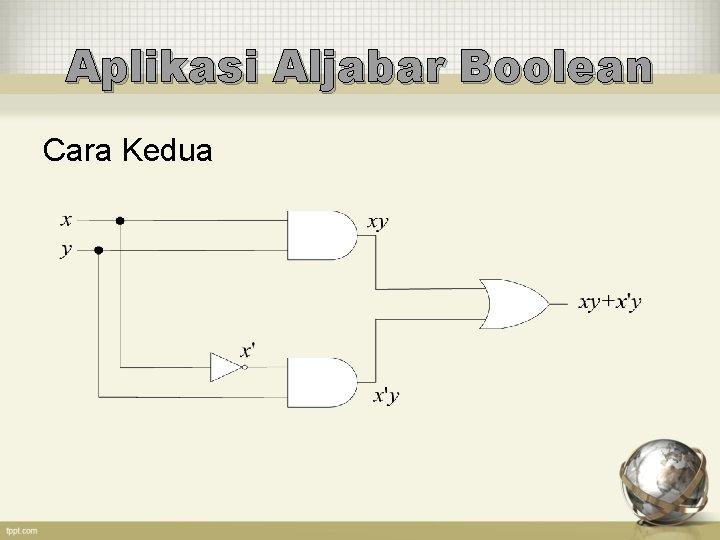 Aplikasi Aljabar Boolean Cara Kedua