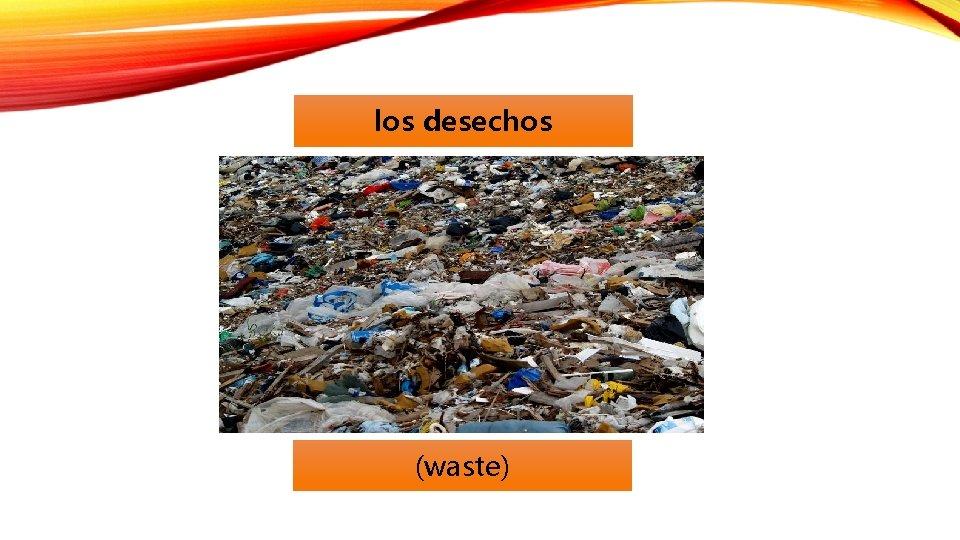 los desechos (waste)