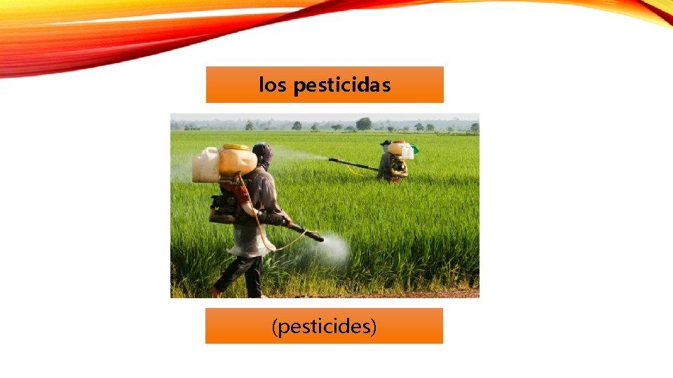los pesticidas (pesticides)